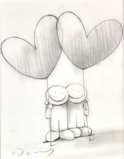 Date Night II (study) by Doug Hyde - Original Drawing on Mounted Paper